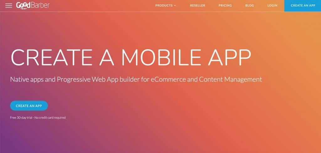 GoodBarber web application development