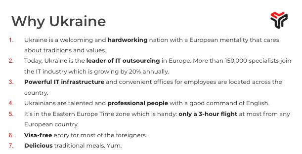 reasons to hire ukrainian developers