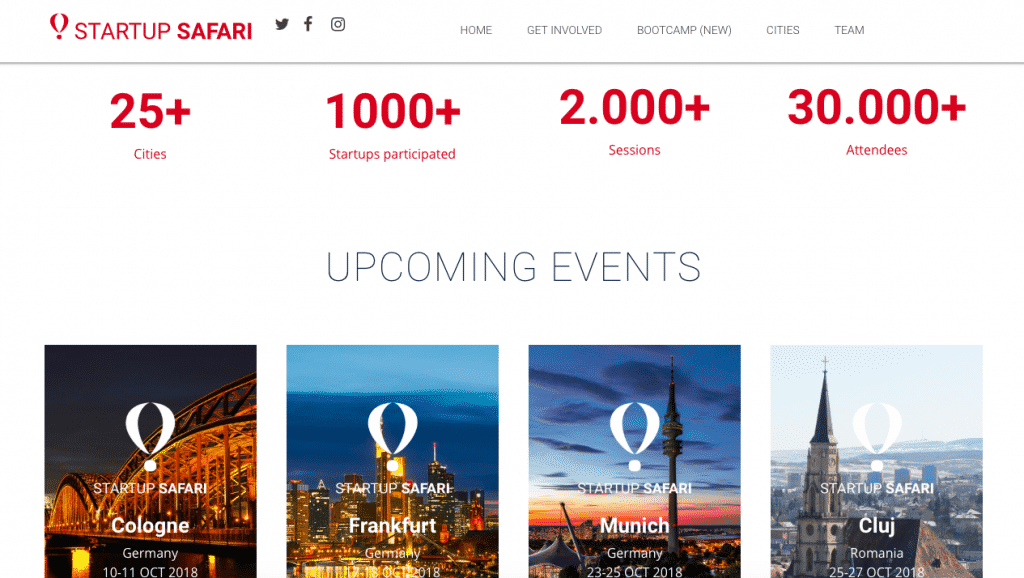 startup safari home page