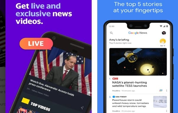Entertainment news apps