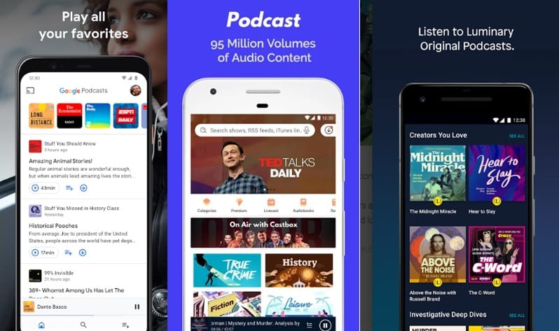 podcast entertainment apps